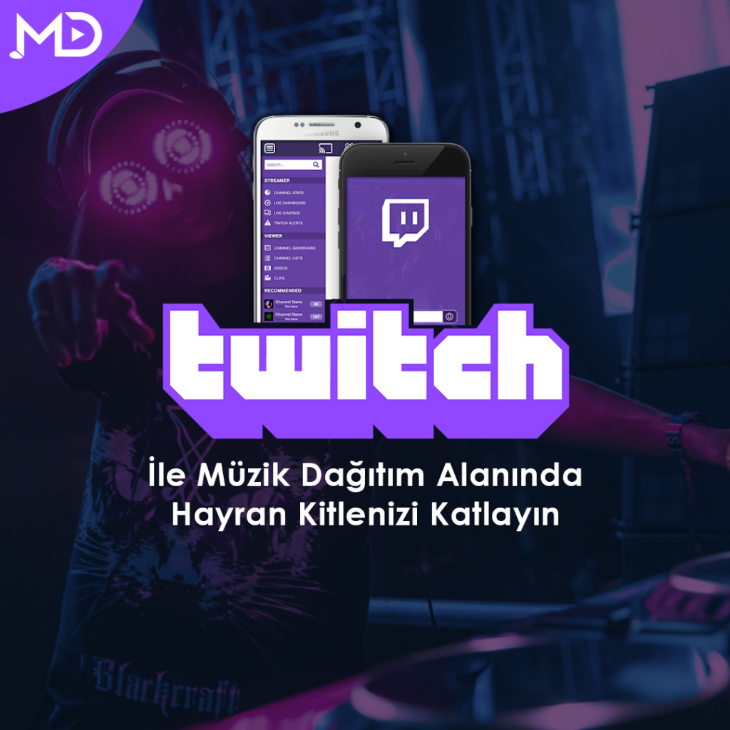 müzik dağıtım ve twitch